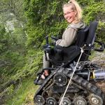 Moha Frikraft på fjällvandring i Norge, med hjälp av en terränggående rullstol.