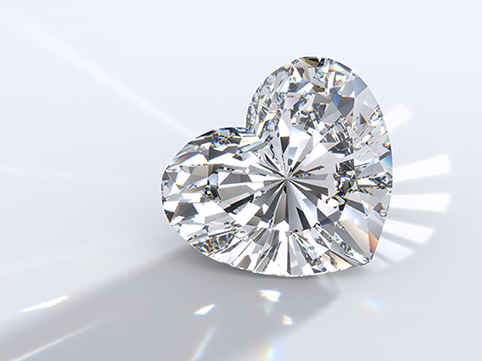 Hjärtformad diamant.