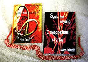 """MohaFrikrafts böcker: Synlig fast osynlig - En dotters tankar om sina """"pappor"""" och Synlig fast osynlig - I svaghetens styrka"""